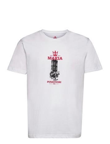 Makia Heritage T-Shirt T-shirts Short-sleeved Valkoinen Makia WHITE