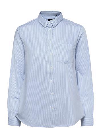 Superdry Classic Preppy L/S Shirt Pitkähihainen Paita Sininen Superdry BEL AIR BLUE STRIPE