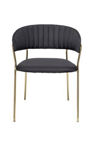 Bloomingville Form Dining Chair, Black, Polyester