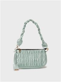Glamorous Ruched Shoulder Bag With Twisted Strap Detail