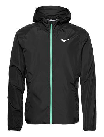 Mizuno Hoody Jacket Outerwear Sport Jackets Musta Mizuno BLACK