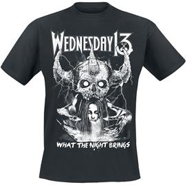 Wednesday 13 - What The Night Brings - T-paita - Miehet - Musta