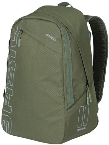Basil Flex Bicycle Backpack 17l, forest green