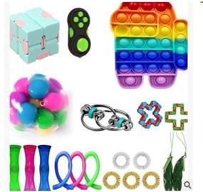 20 kpl, fidget lelut pakkaus asetettu, puolueen suosii, aisti, pop se, stressipallo
