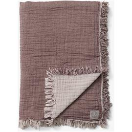 &Tradition &Tradition-Collect Throw SC32 260x260 cm, Cotton / Cloud & Burgundy