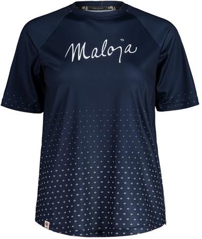 Maloja HaslmausM. Multi 1/2 Short Sleeve Multisport Jersey Women, night sky, Naisten takit, paidat ja muut yläosat