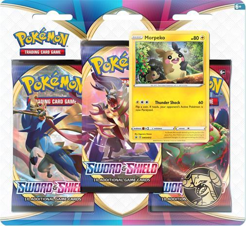 Pokemon SWSH1: Sword & Shield 3-pack Blister Morpeko