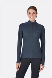 Rab Women's Pulse LS Zip Ebony 12