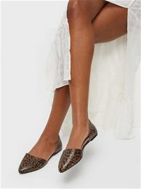 NLY Shoes Open Ballerina Leopard