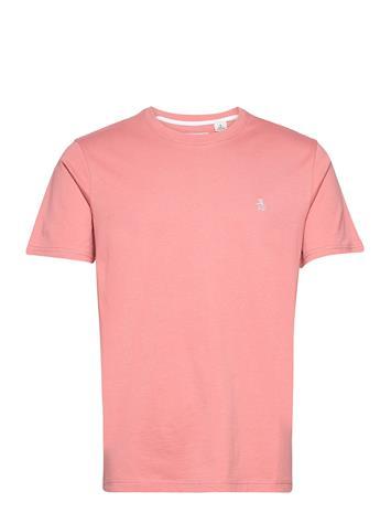 Original Penguin Small Logo T-Shirt T-shirts Short-sleeved Vaaleanpunainen Original Penguin DUSTY ROSE, Miesten paidat, puserot ja neuleet