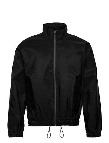 Helmut Lang Logo Track Jkt.Jacqu Outerwear Sport Jackets Musta Helmut Lang BASALT BLACK
