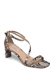 GUESS Selby/Sandalo /Leather Shoes Heels Pumps Sling Backs Harmaa GUESS GREY, Naisten kengät