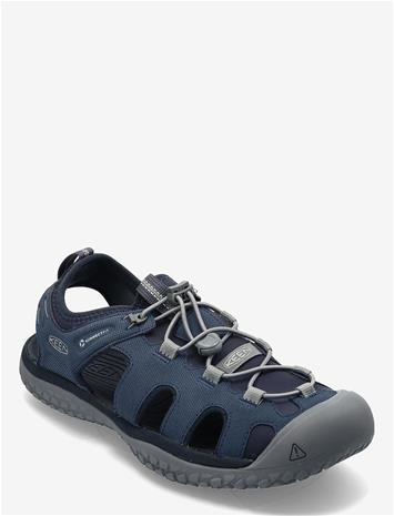 KEEN Ke Solr Sandal M Navy-Steel Grey Shoes Summer Shoes Sandals Harmaa KEEN NAVY-STEEL GREY, Miesten kengät