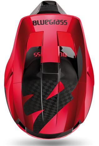 bluegrass Legit Carbon MIPS Helmet, red metallic glossy/black matte, Kypärät, suojukset ja tarvikkeet