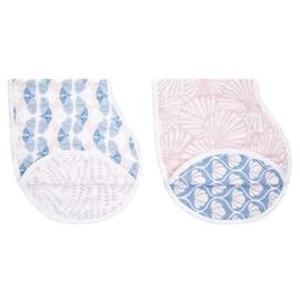 Aden + Anais, Pack of 2 Pink and Purple Deco Burpy Bibs