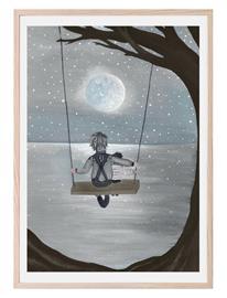 That's Mine Swinging In The Moonlight Home Kids Decor Posters Monivärinen/Kuvioitu That's Mine MULTIPLE, Meikit, kosmetiikka ja ihonhoito