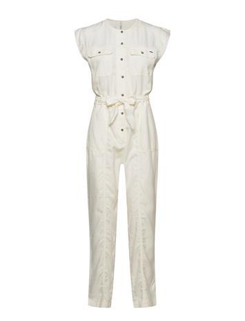 Pepe Jeans London Uli Jumpsuit Haalari Valkoinen Pepe Jeans London WHITE, Naisten paidat, puserot, topit, neuleet ja jakut
