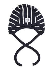Polarn O. Pyret Helmet Po.P Stripe Newborn Accessories Headwear Hats Sininen Polarn O. Pyret DARK SAPPHIRE, Lastenvaatteet