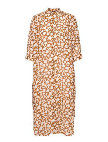 Moshi Moshi Mind Laurel Shirtdress Flower Dresses Everyday Dresses Oranssi Moshi Moshi Mind HAZEL CHERRY, Naisten hameet ja mekot