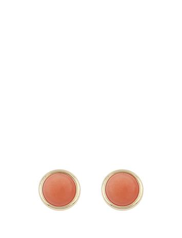 SNä– of Sweden Agatha Mini Ear Accessories Jewellery Earrings Studs Kulta SNä– Of Sweden G/ORANGE
