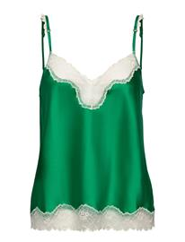 Stella McCartney Lingerie Kitty Catching Camisole Hihaton Pusero Paita Vihreä Stella McCartney Lingerie FRESH GREEN, Naisten paidat, puserot, topit, neuleet ja jakut