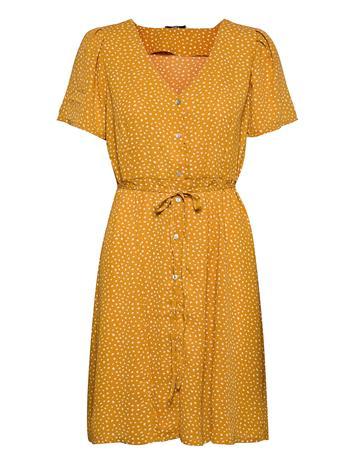 ONLY Onlsonja Life S/S Dress Wvn Dresses Everyday Dresses Oranssi ONLY CHAI TEA, Naisten hameet ja mekot