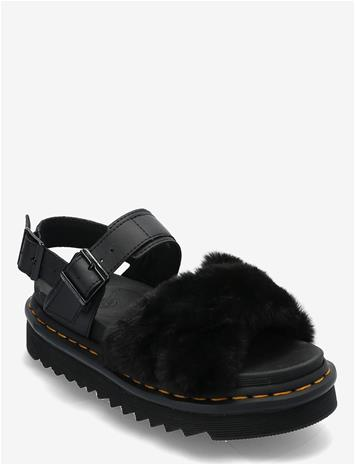 Dr. Martens Voss Ii Fluffy Shoes Summer Shoes Flat Sandals Musta Dr. Martens BLACK