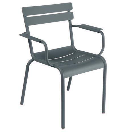 Fermob Luxembourg käsinojallinen tuoli, storm grey