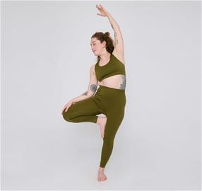 Organic Basics Naisten Active Leggings - Kierrätettyä Nylonia, Olive / M-L