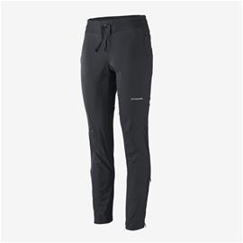 Naisten Patagonia Wind Shield Pants – tuulen- ja vedenpitävät softshell-housut, Black / M