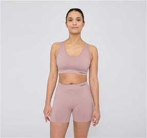 Organic Basics Naisten Active Yoga Shortsit - Kierrätettyä Nylonia, Dusty Rose / XS-S