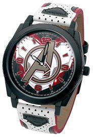 Avengers - Avengers Logo - Rannekello - Miehet - Valkoinen musta punainen, Korut, rannekellot, lompakot ja aurinkolasit
