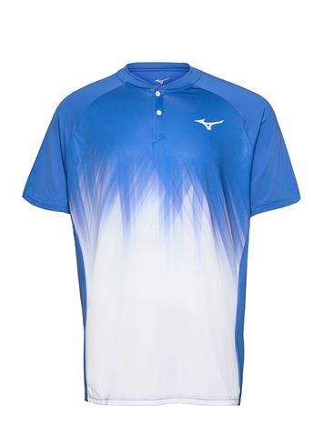 Mizuno Shadow Polo T-shirts Short-sleeved Monivärinen/Kuvioitu Mizuno NEBULAS BLUE/WHITE