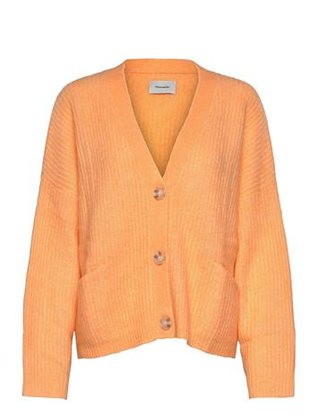 HOLZWEILER Drive Knit Cardigan Neuletakki Oranssi HOLZWEILER PEACH ORANGE