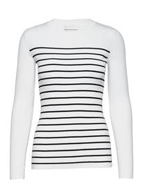 Storm & Marie Nap Blouse T-shirts & Tops Long-sleeved Valkoinen Storm & Marie WHITE W. BLACK STRIPES