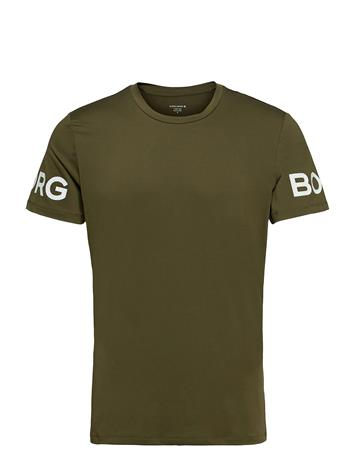 Björn Borg Tee Borg Borg T-shirts Short-sleeved Vihreä Björn Borg IVY GREEN