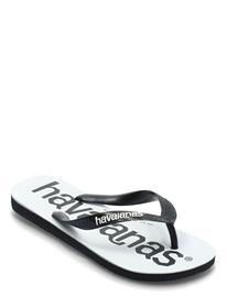 Havaianas Top Logomania Shoes Summer Shoes Flip Flops Valkoinen Havaianas BLACK/BLACK 1069