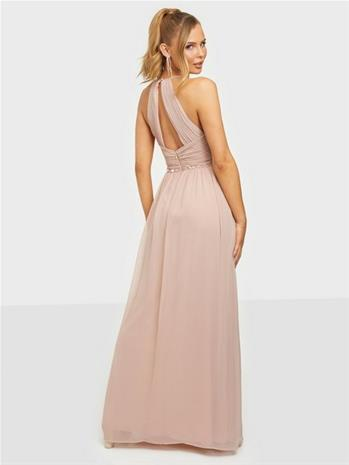 NLY Eve Heavenly Beaded Gown Dusty Pink