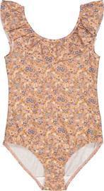 Wheat Marie-Louise UPF50+ Uimapuku, Flowers And Seashells, 116