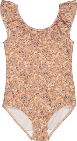 Wheat Marie-Louise UPF50+ Uimapuku, Flowers And Seashells, 110