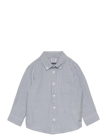 Lindex Shirt Blue Stripe Paita Valkoinen Lindex WHITE