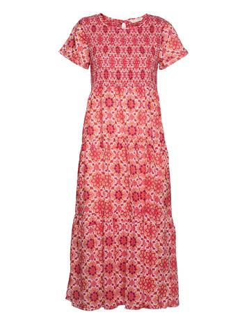ODD MOLLY Myrtle Dress Polvipituinen Mekko Vaaleanpunainen ODD MOLLY PINK FUDGE