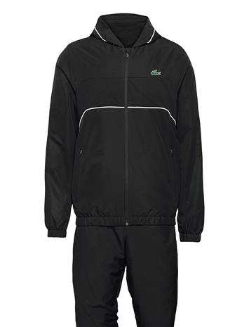 Lacoste Men S Tracksuit Sweat-shirts & Hoodies Tracksuits - SETS Musta Lacoste BLACK/BLACK-WHITE-BLACK