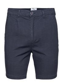 Kronstadt Hector Orleans Check Shorts Shorts Chinos Shorts Sininen Kronstadt NAVY