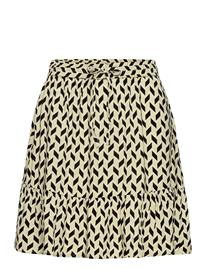 b.young Bymmjoella Short Skirt - Lyhyt Hame Keltainen B.young SWAMP MIX