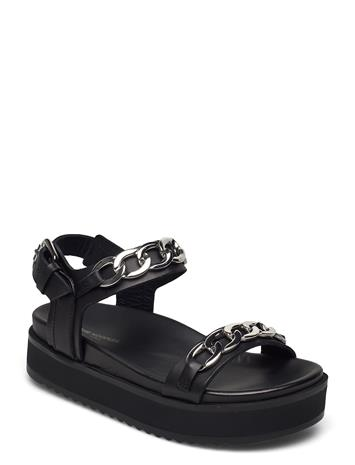 The Kooples Chassure Shoes Summer Shoes Flat Sandals Musta The Kooples BLACK
