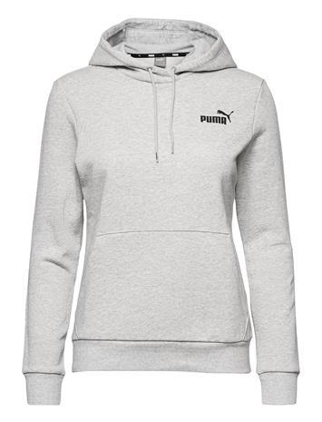 PUMA Ess Small Logo Hoodie Fl Huppari Harmaa PUMA LIGHT GRAY HEATHER