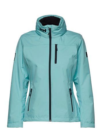 Helly Hansen W Crew Hooded Midlayer Jacket Outerwear Sport Jackets Sininen Helly Hansen GLACIER BLUE