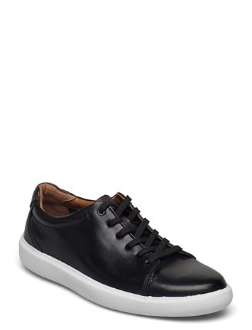 Clarks Cambro Low Shoes Business Laced Shoes Musta Clarks BLACK LEATHER