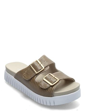 Ilse Jacobsen Sandals Shoes Summer Shoes Flat Sandals Beige Ilse Jacobsen FOSSIL